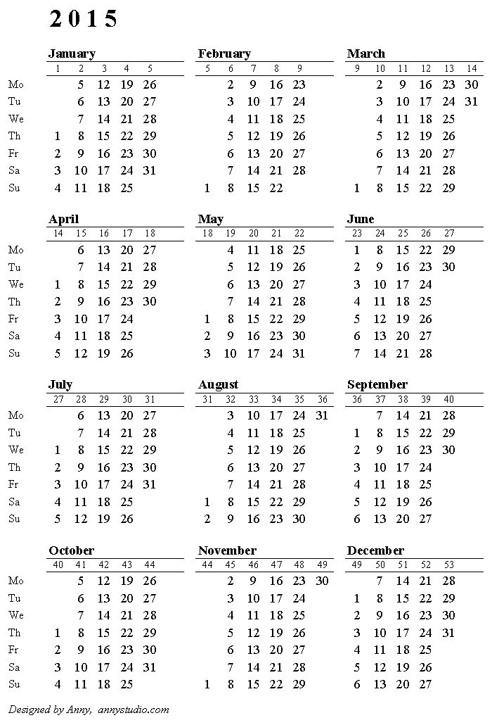 2017 calendar with week numbers printable - anuvrat.info