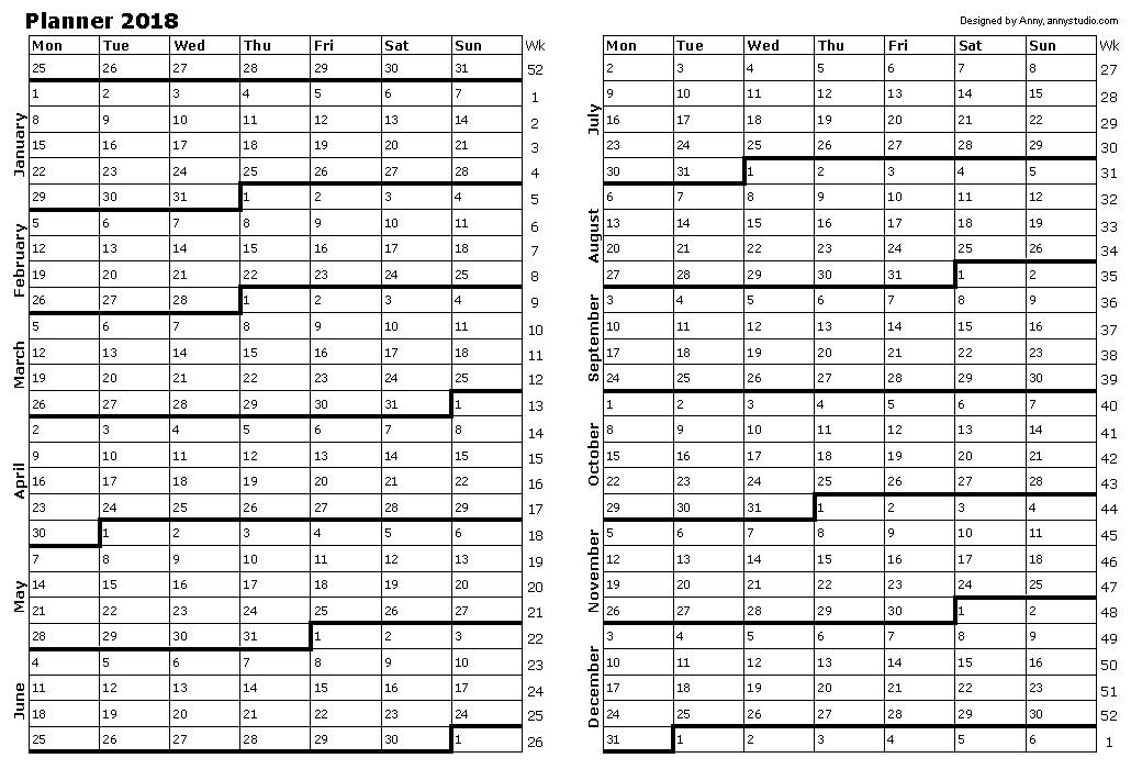 Free Printable Calendars and Planners 2019, 2020, 2021