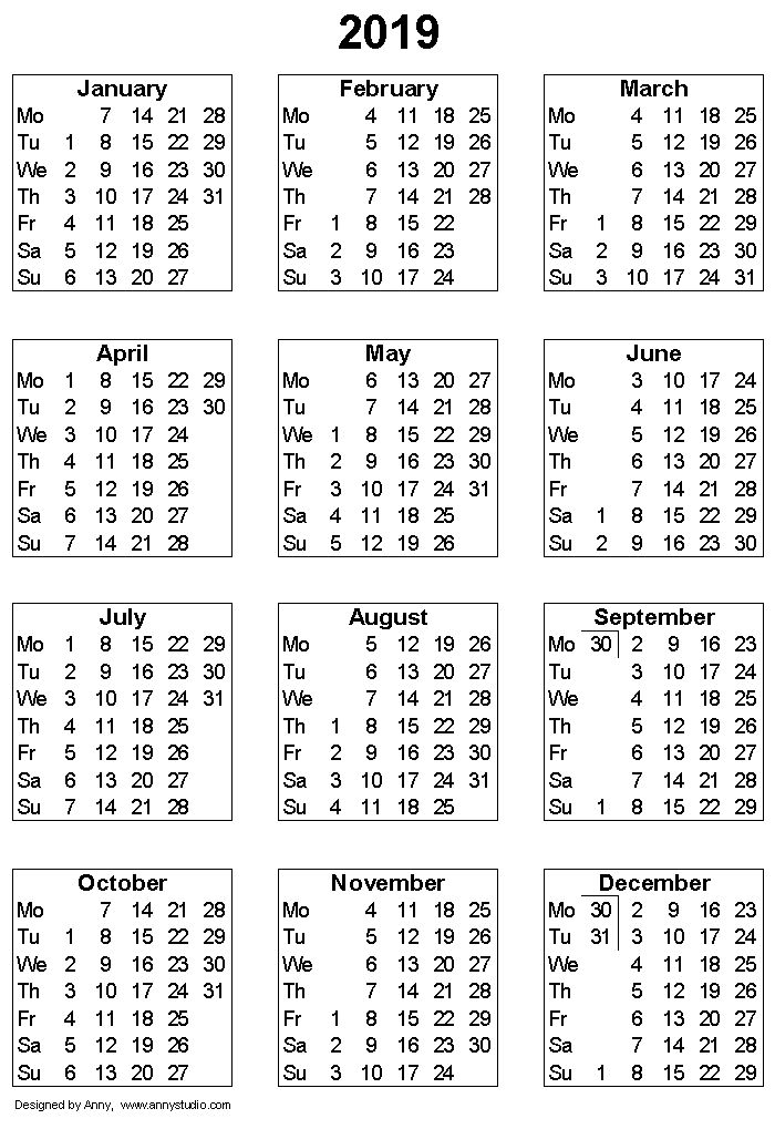 photograph regarding 3 Year Calendar Printable known as Totally free Printable Calendars and Planners 2018, 2019, 2020
