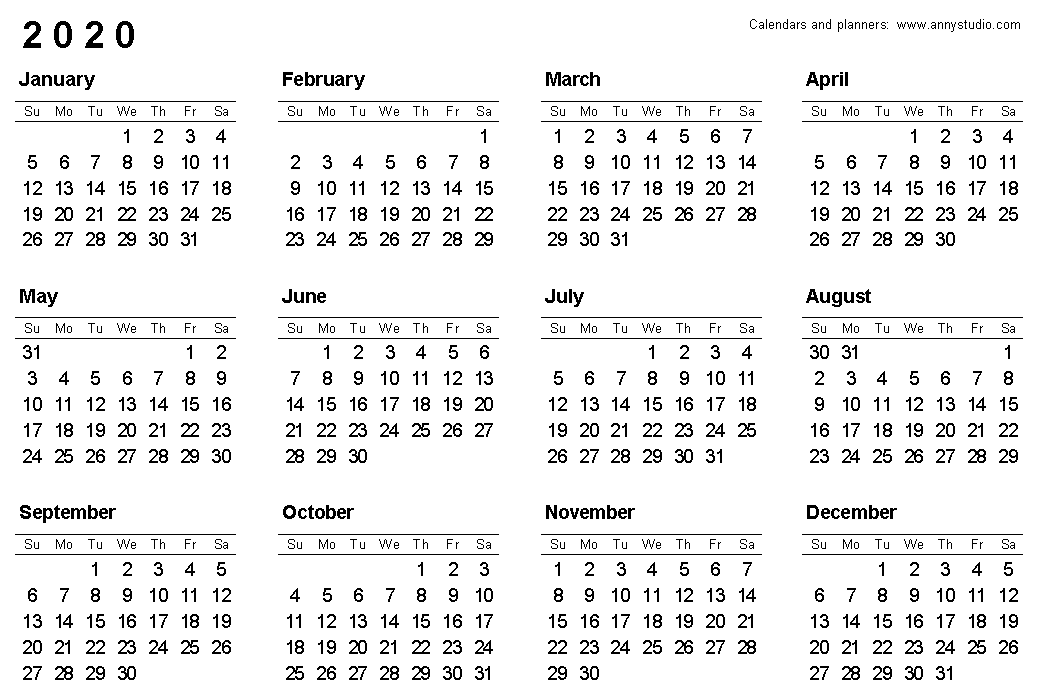 Calendario 2020 Vector Gratis.Free Printable Calendars And Planners 2019 2020 2021 2022