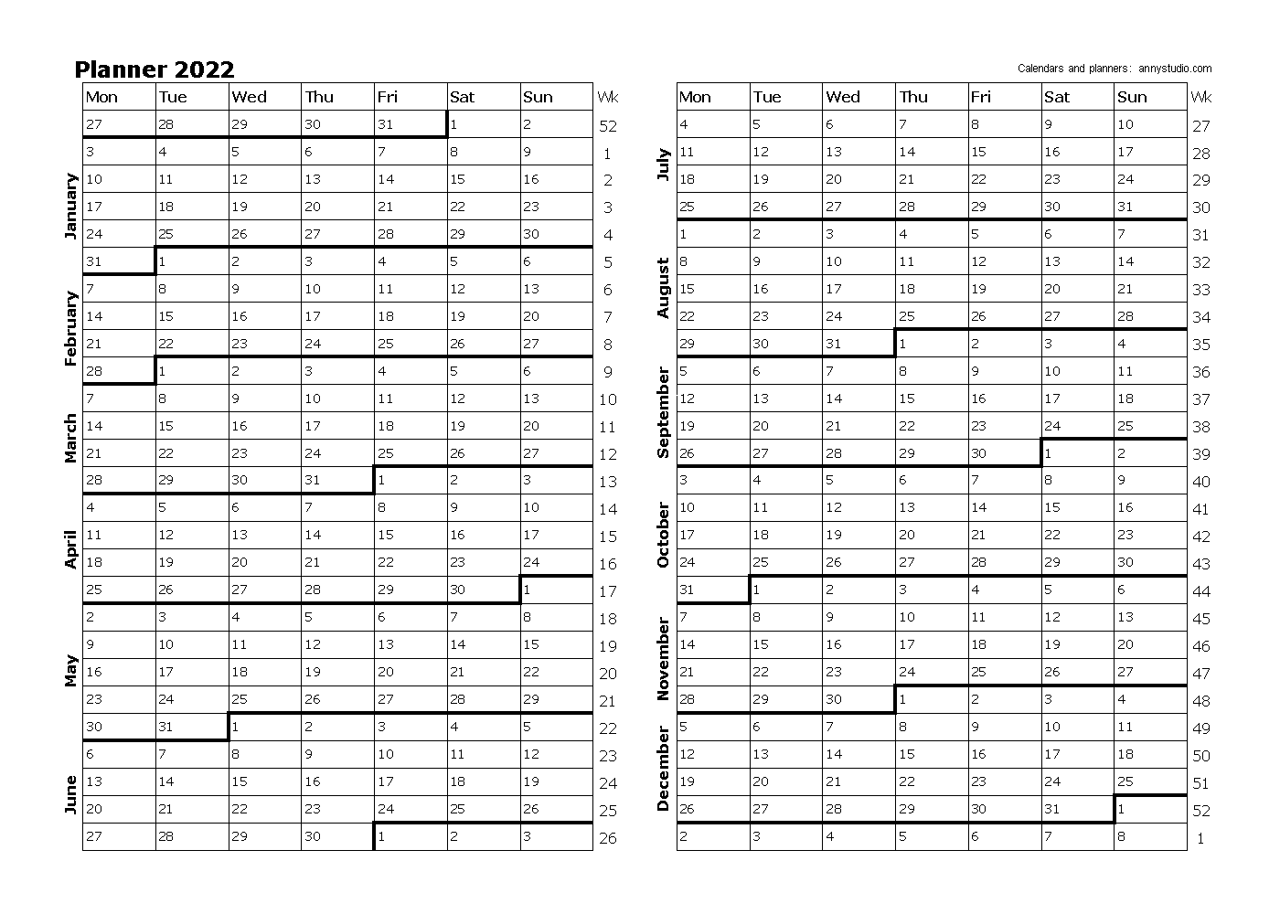 Free Printable Calendars And Planners 2022 2023 And 2024