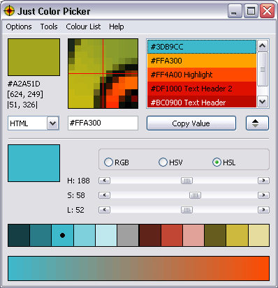 Just Color Picker 5 2 - best free colour tool for Windows