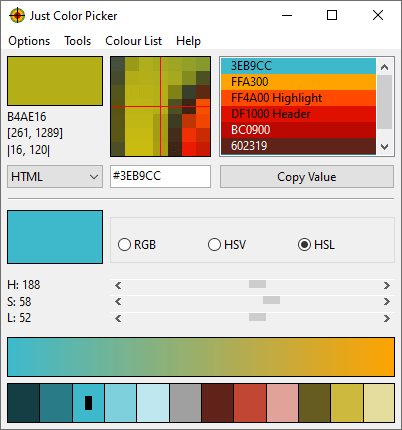 Click to view Just Color Picker 5.3 screenshot