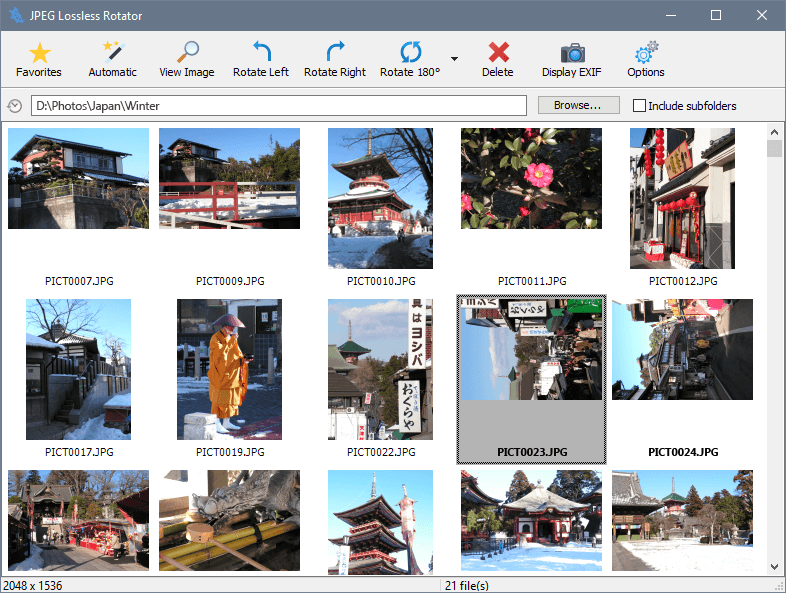 JPEG Lossless Rotator 9.2 - free photo rotation software